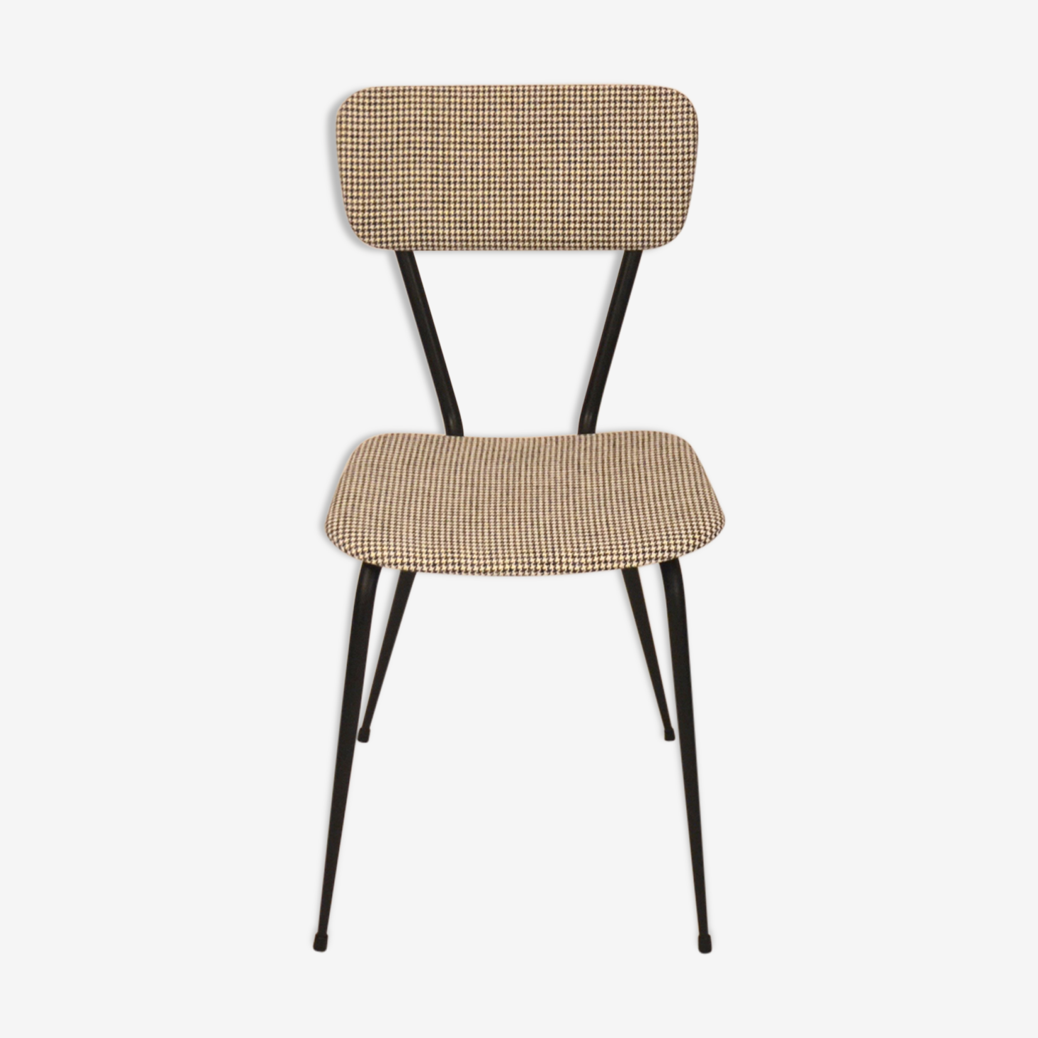 Chair 50 retapissee houndstooth years