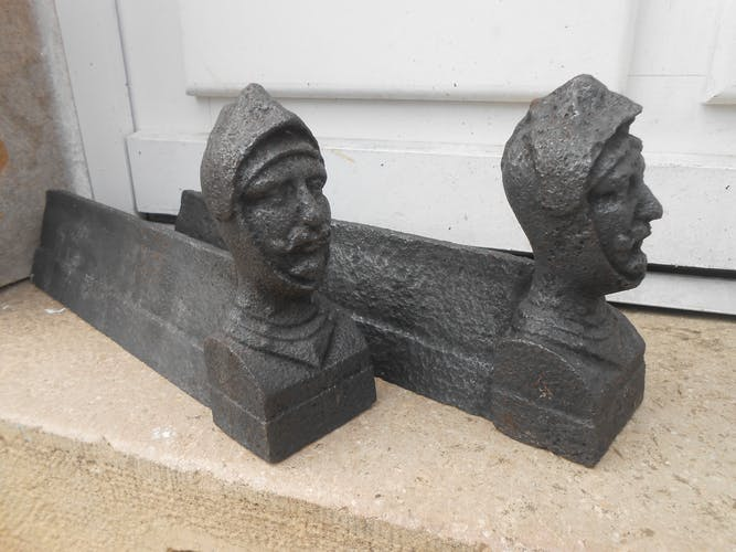 old Pair of cast iron channels 18th