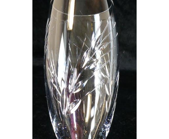 Set de 6 flutes a champagne Cristal d'Arques modele fleury épi