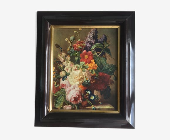 Oil on canvas: Bouquet of flowers