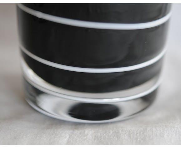 Etno collection long vase en verre de Murano signé Nason & Moretti