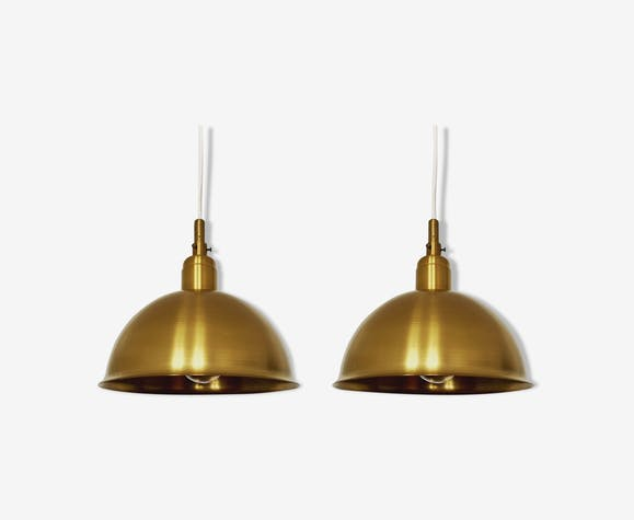 Set of 2 hanging lamps 1950