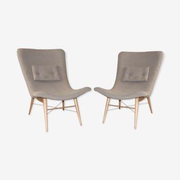 Pair of armchairs by Miroslav Navrátil, 1959