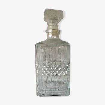 Carafe à whisky en verre vintage