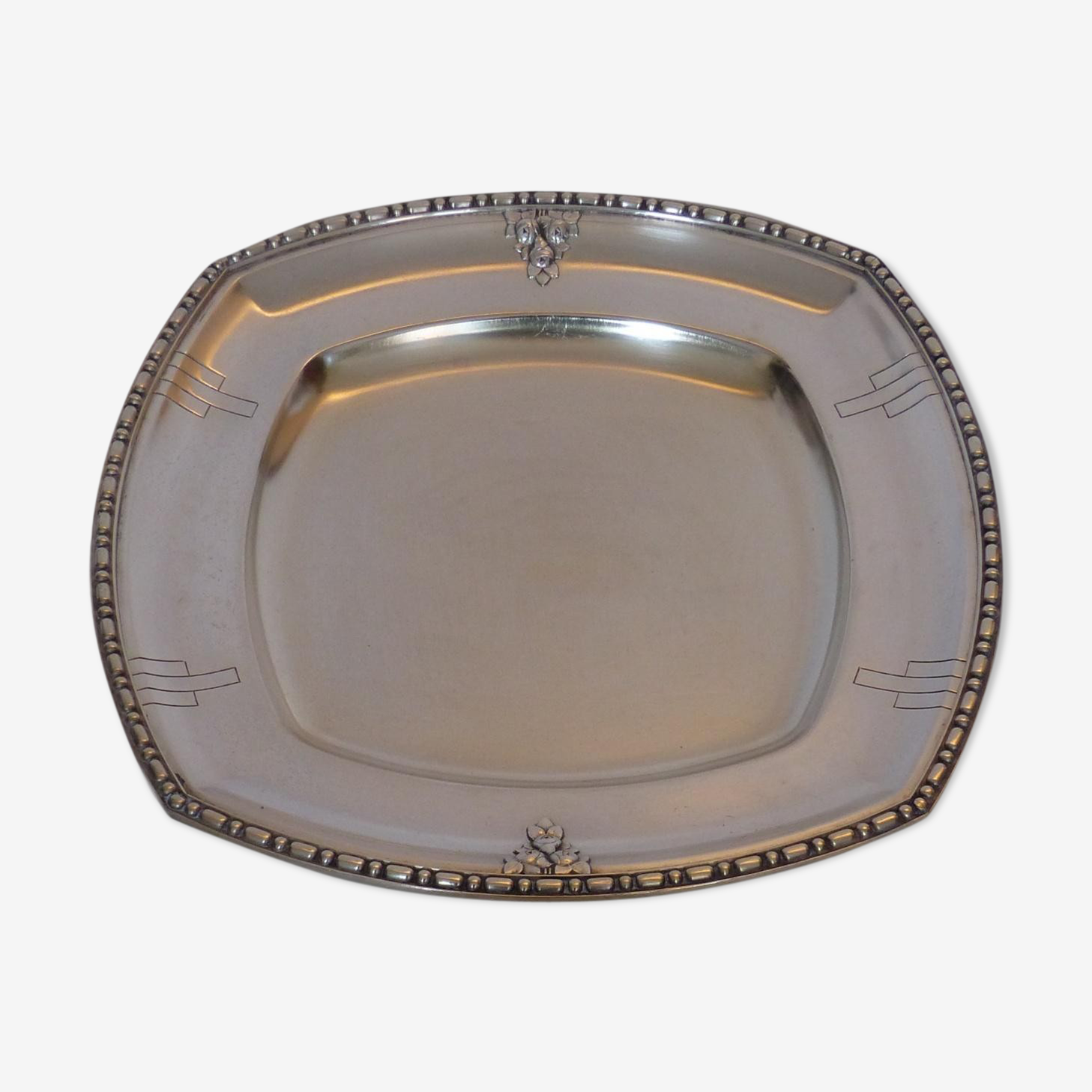 Silver metal tray 1920-punch R * M 12GR