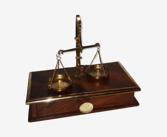 balance ancienne tr buchet de bijoutier en bois et laiton laiton dor classique vul5hks. Black Bedroom Furniture Sets. Home Design Ideas