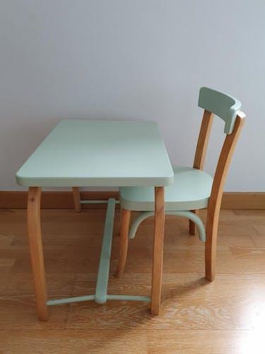 """Bureau et sa chaise """"Baumann"""""""