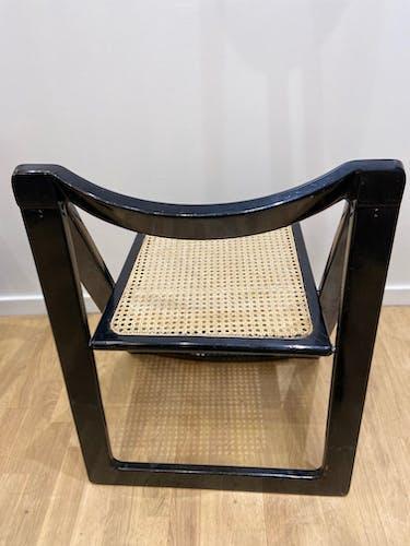 Chaise pliante design cannage