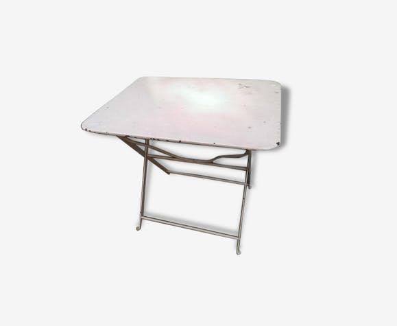 Table pliante de jardin ancienne - fer - rose - classique - 128694