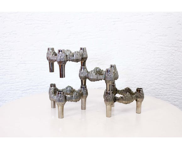Fritz Nagel 4 candlesticks set for Quist