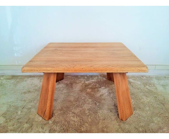 Coffee table solid oak from the 1950s