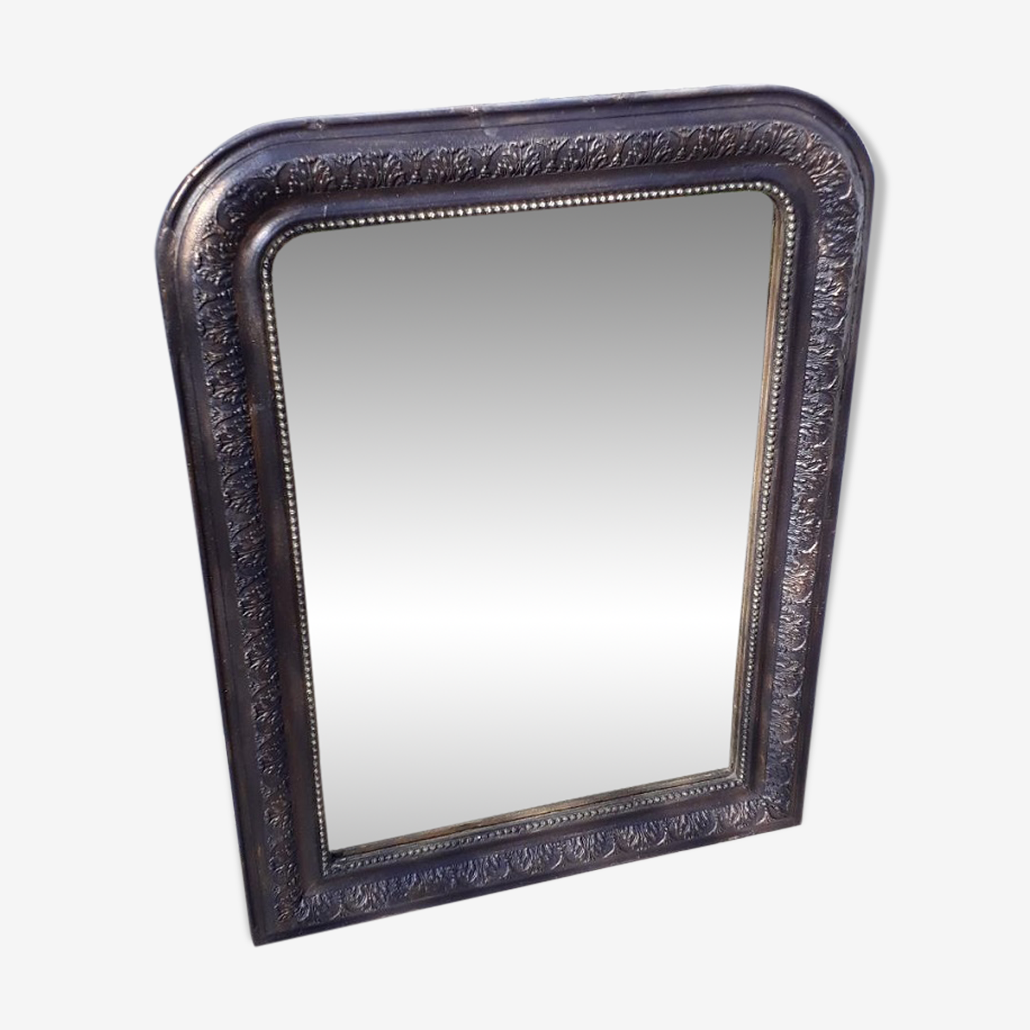 Mirror Louis Philippe black and gold 74 x 56cm