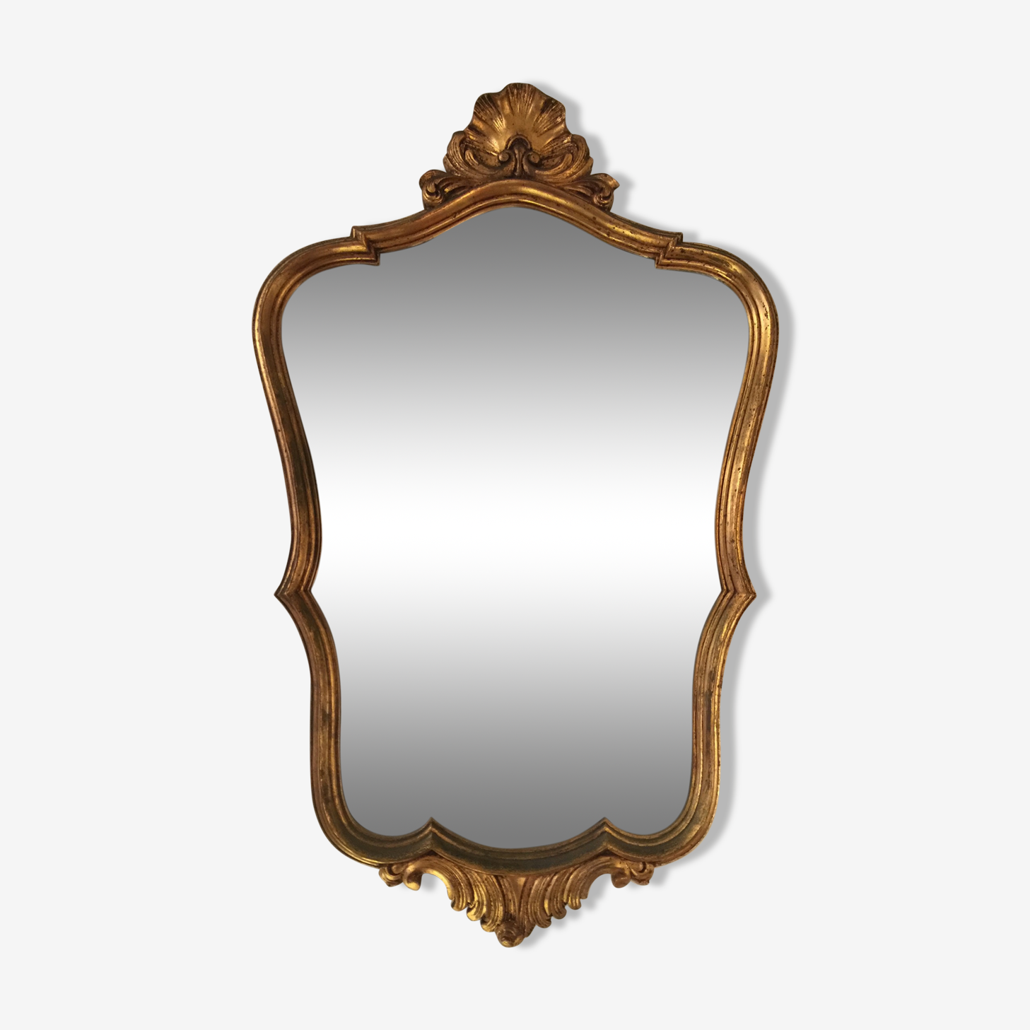 Golden vintage wooden mirror 50x79cm