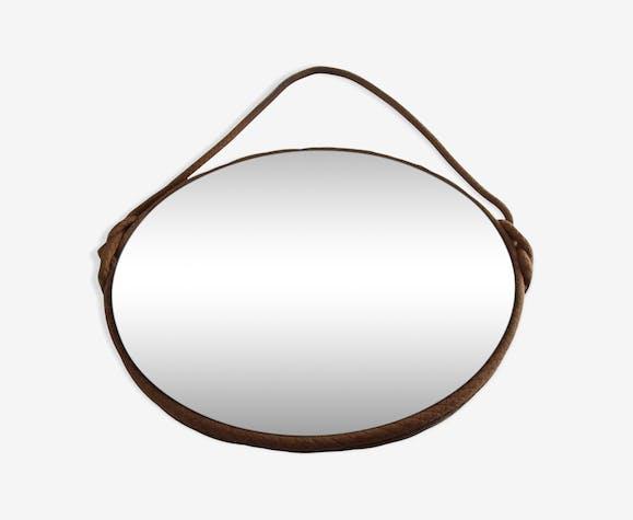Miroir biseauté rond 37x37cm