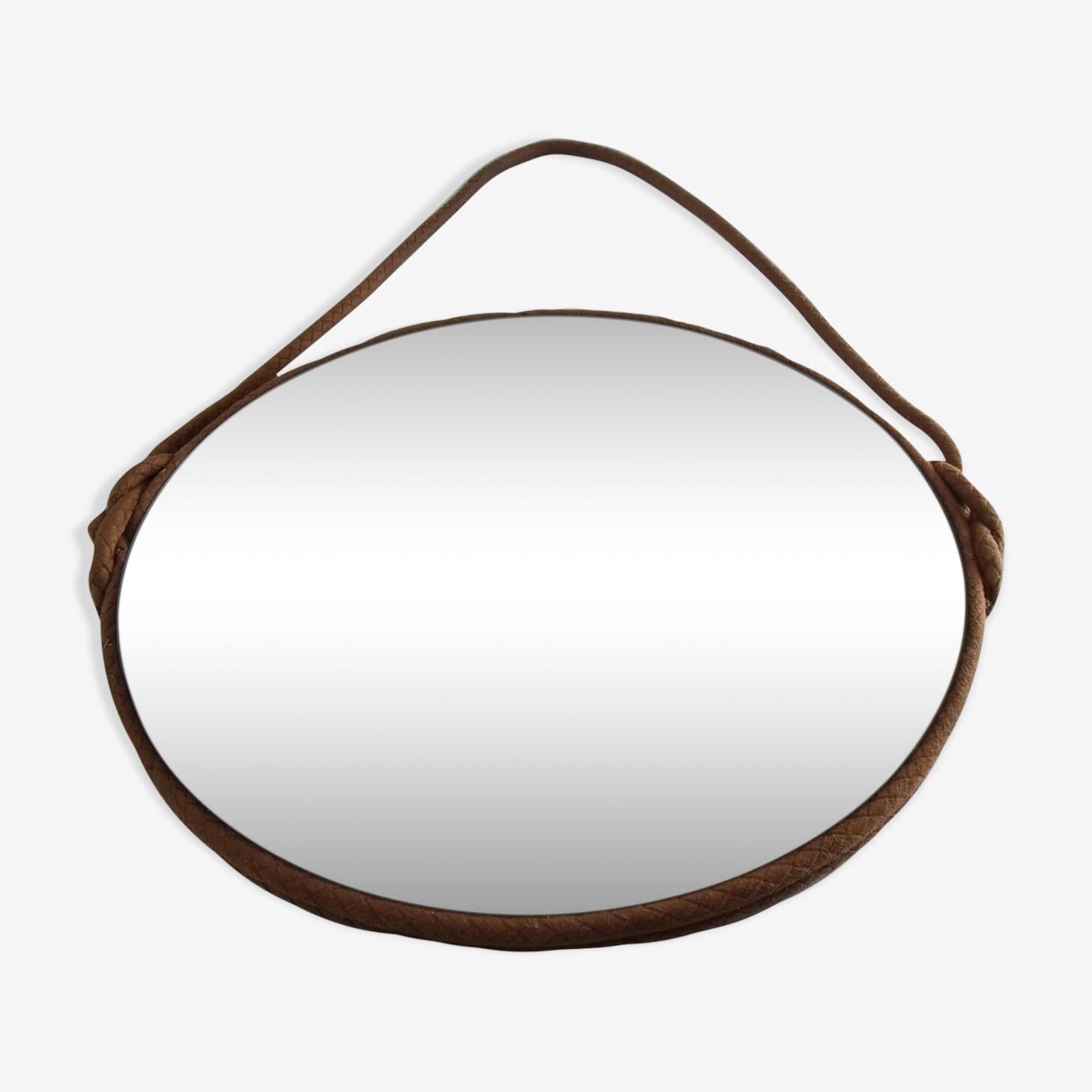 Round beveled mirror 37x37cm