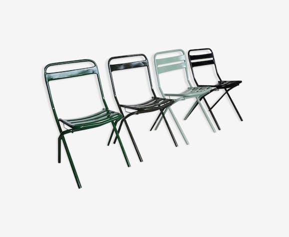 Chaises Pliante Métal Série Vert De Tolix Dtpgazx 4 Industriel 9DHIWEeY2