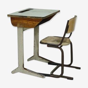 Bureau et chaise industriel pour enfant de Marko