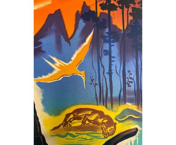 Affiche originale française L'oasis des tempêtes, 1957, par Constantin Belinsky