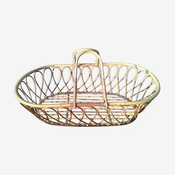 Vintage rattan couffin