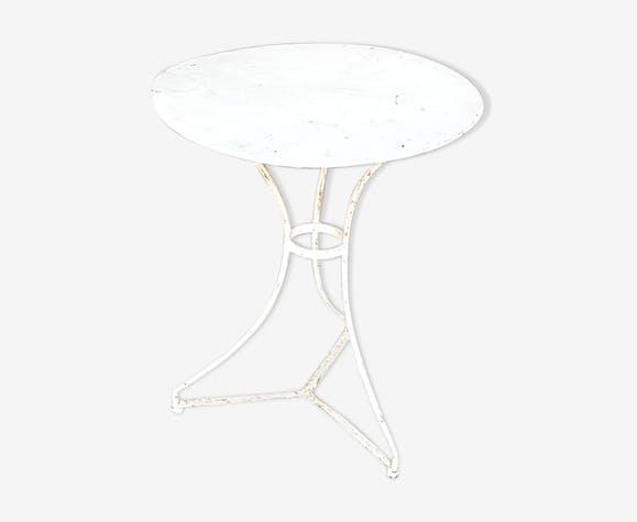 Table de jardin ancienne en metal