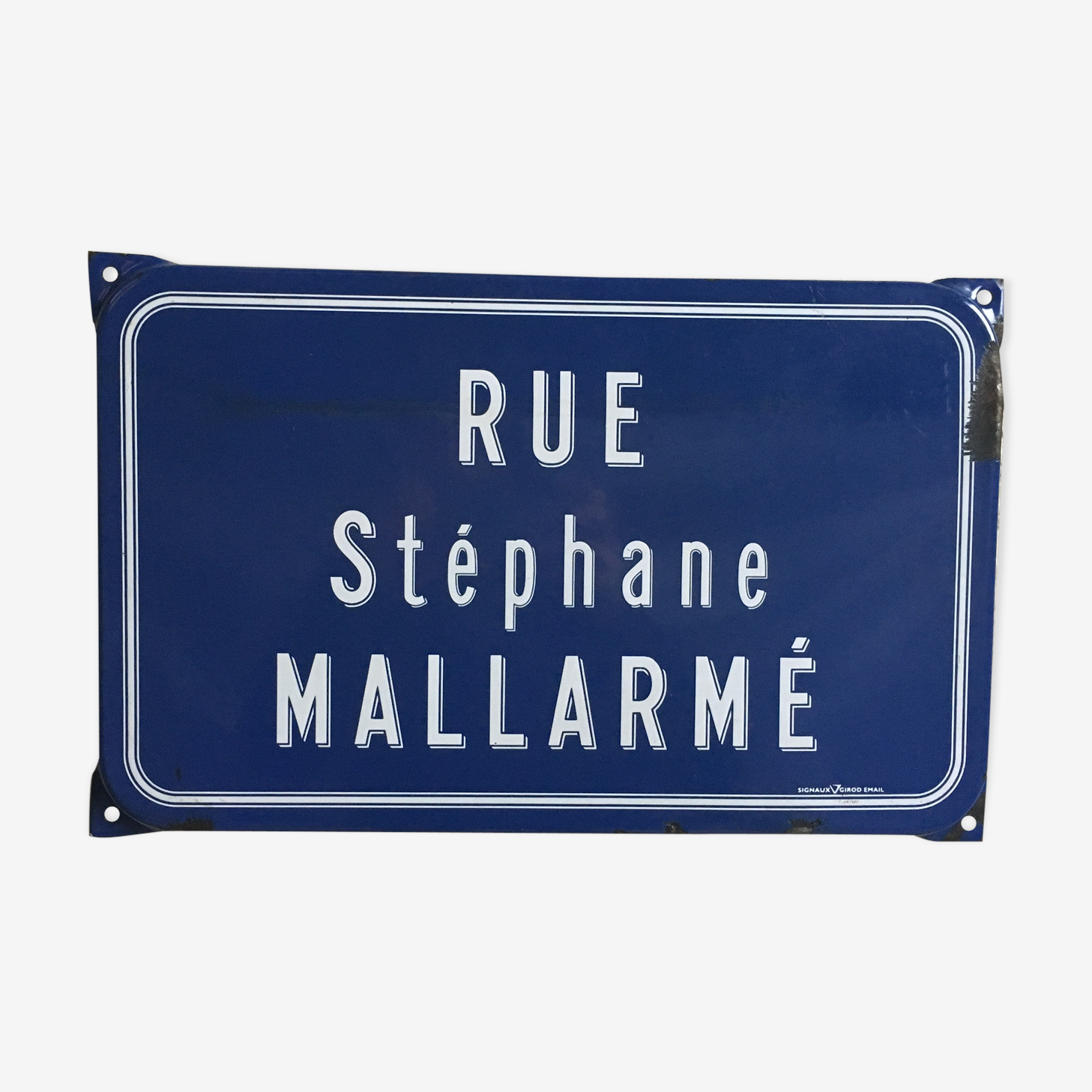 Street sign enamelled former