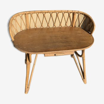 Rattan dressing table