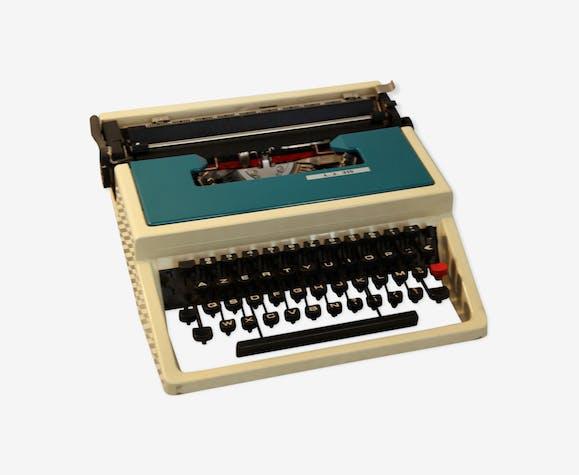 Ancienne machine à écrire vintage l.j. 315 underwood, bleue