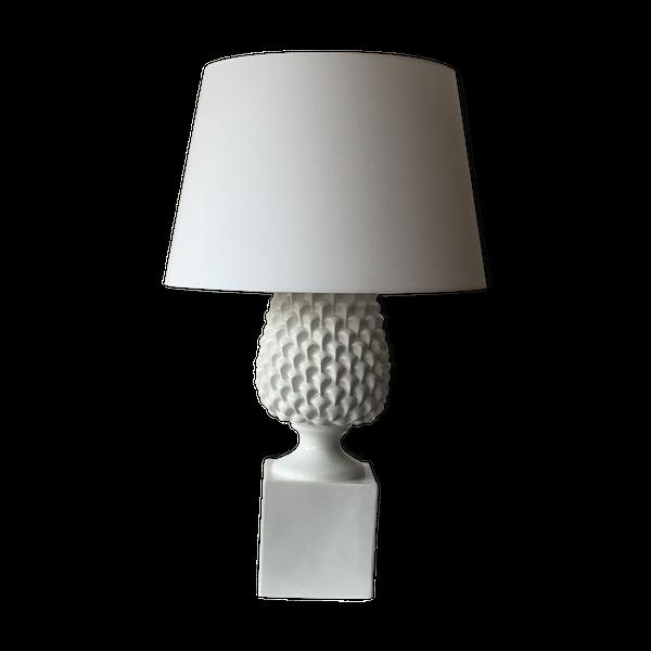Lampe ananas en céramique blanche, 1970