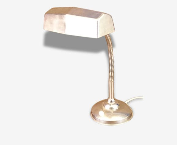 Lampe De Bureau Chromee Vintage Annees 30 Metal Art Deco 116145