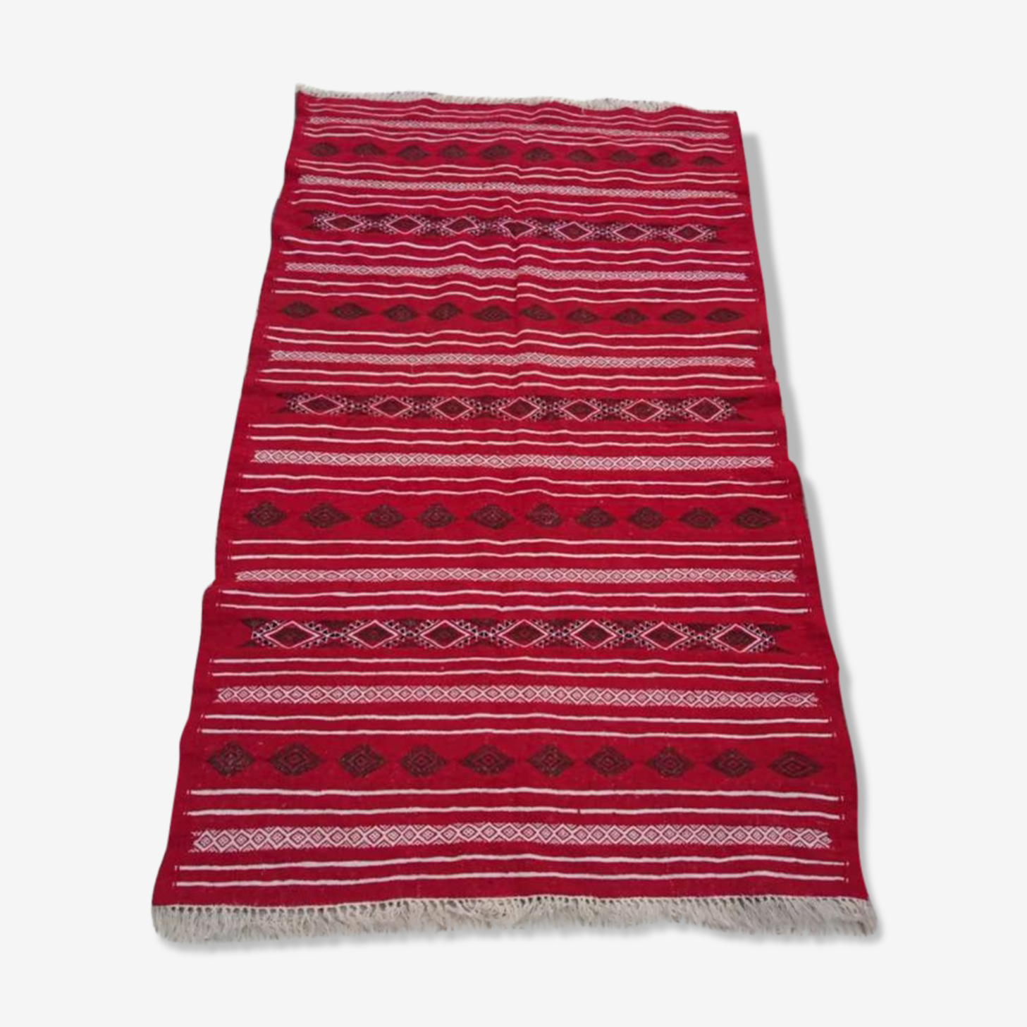 Handmade red berber carpet 240x140cm