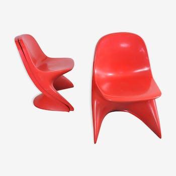 Lot de 3 chaises Casalino Junior - années 70
