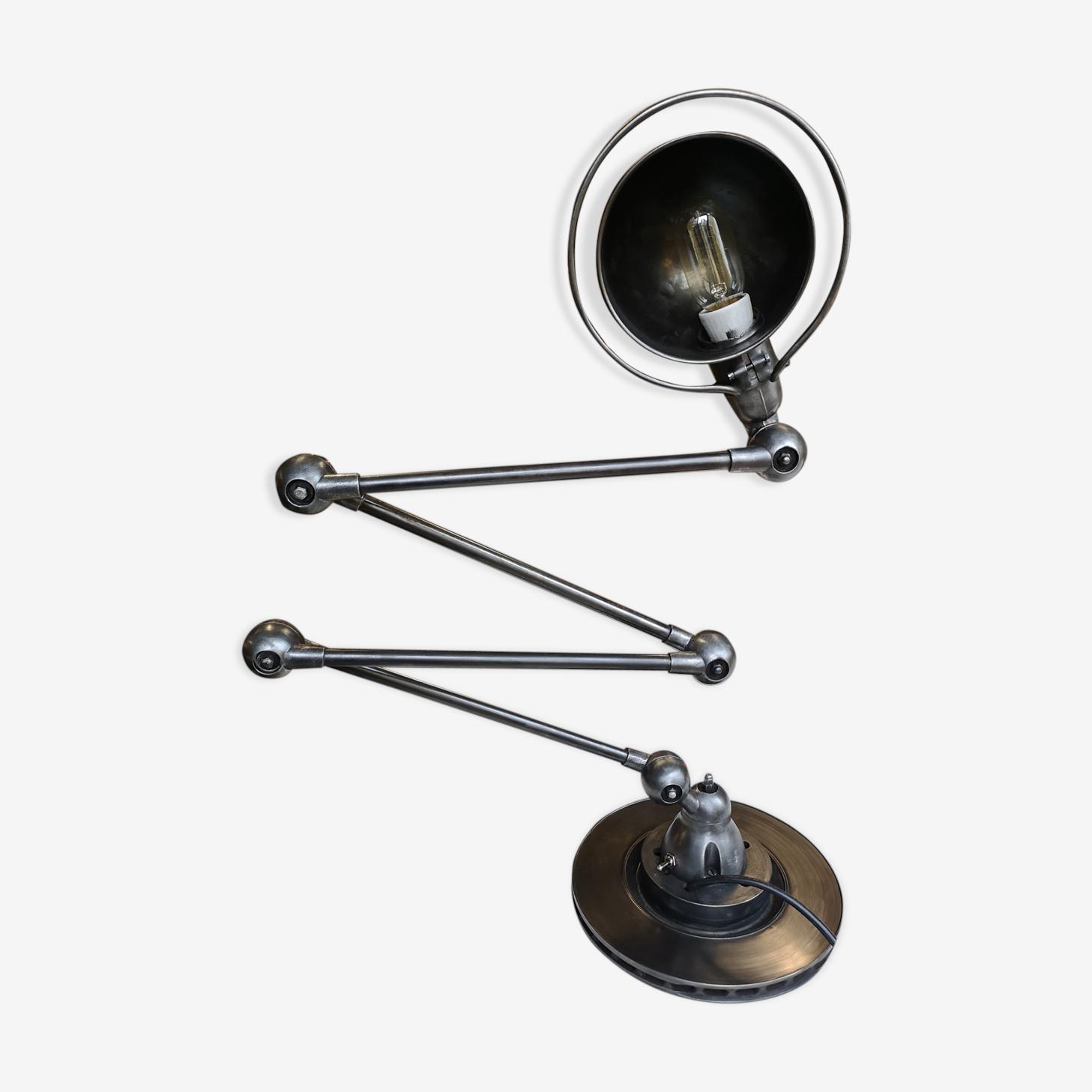 Lampe Jielde 4 Bras Restauree Metal Gris Industriel Qzevxti