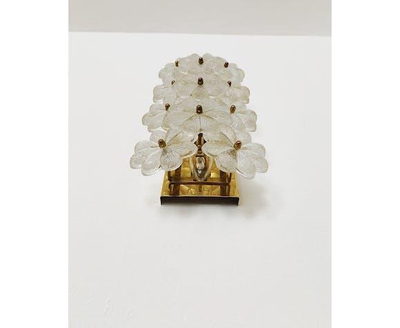 Paire d'appliques en verre de cristal par Ernst Palme 1950