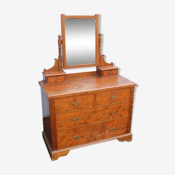 Pitch pine dressing table