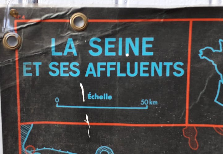 school poster mdi 1964 the seine and its tributaries /coast of France