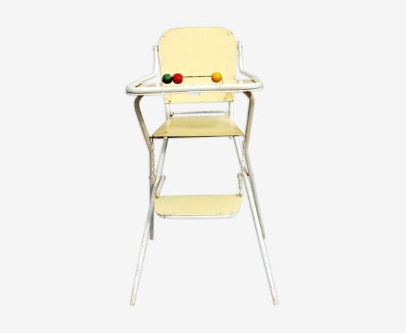 chaise haute pliante b b ann es 50 bois mat riau. Black Bedroom Furniture Sets. Home Design Ideas