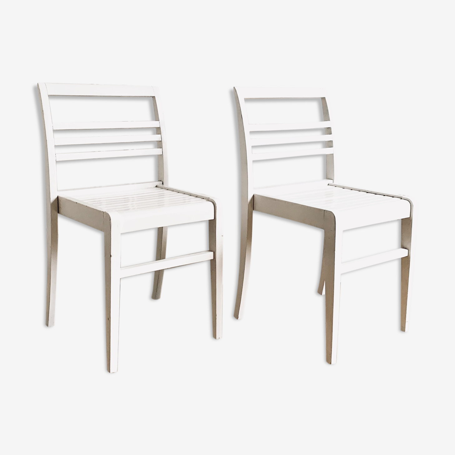 Paire de chaises par René Gabriel