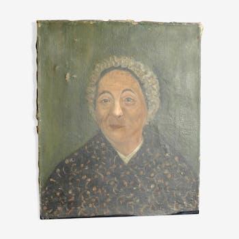 Portrait of woman, oil on canvas fine XIX EME