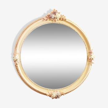 Miroir à décor floral 49x49cm
