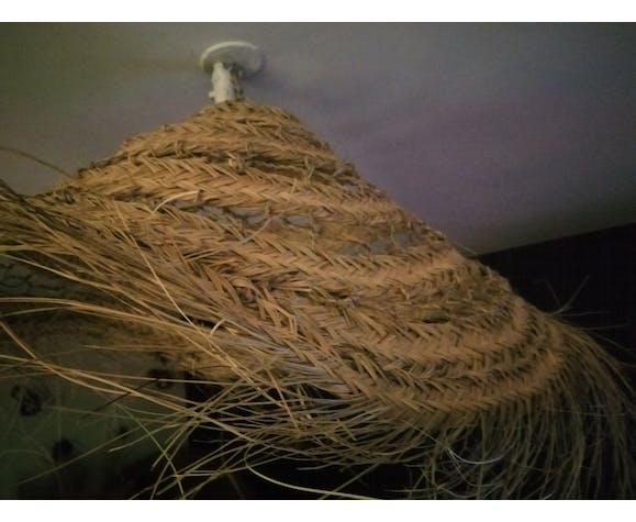 Suspension parasol en alfa d'artisanat marocain