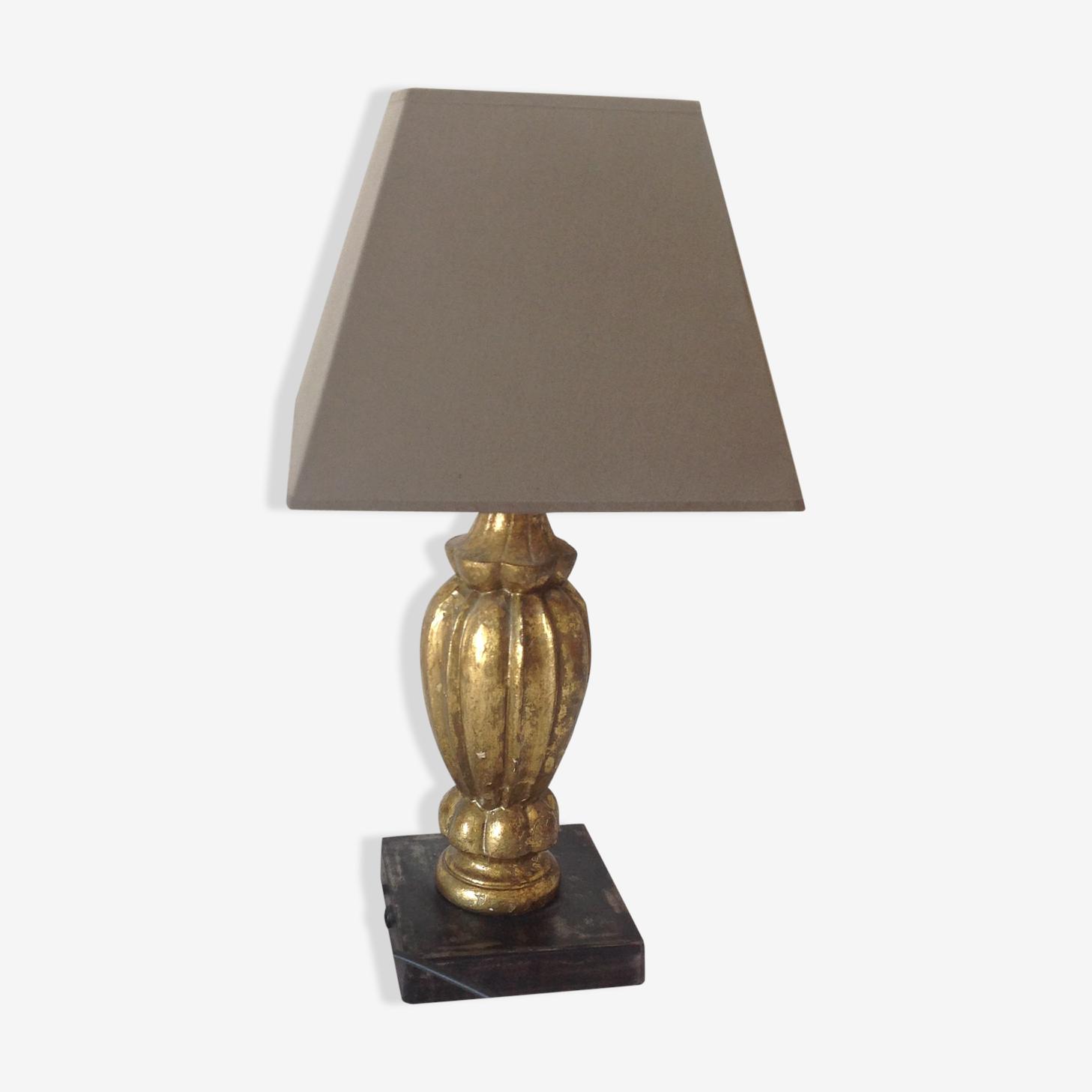 Lampe avec abat-jour en soie