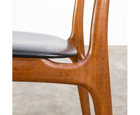 Ensemble de 6 chaises années 60 teck Schionning et Elgaard pour Randers