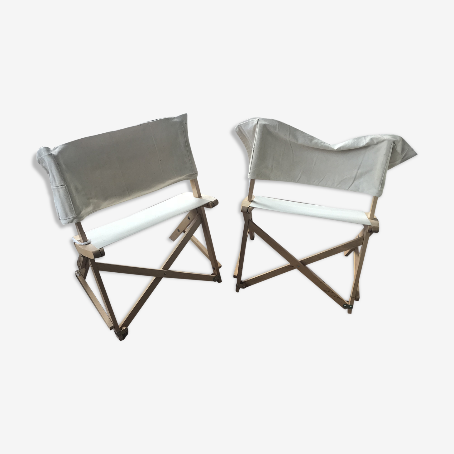 Pair of vintage camping chair