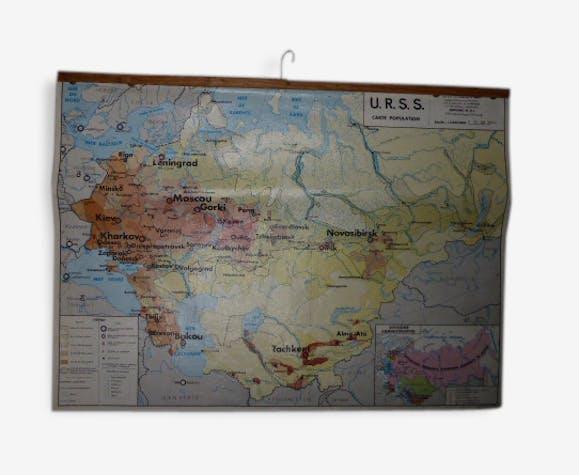 Carte Urss.Carte Geographie Urss Carte De La Population Et Carte Physique