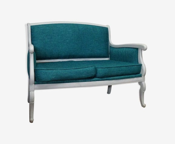 Louis Philippe Grey And Duck Blue Bench
