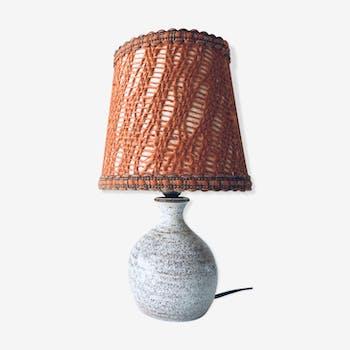 Signed chamotté sandstone lamp