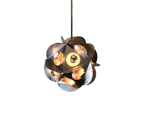 Hanging lamp Bruno Munari   Selency