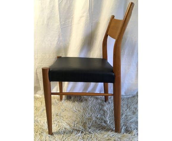 Series of 6 Scandinavian chairs in teak 50/60