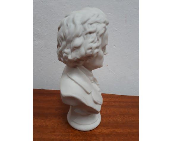 Bust Beethoven biscuit porcelain foot shower