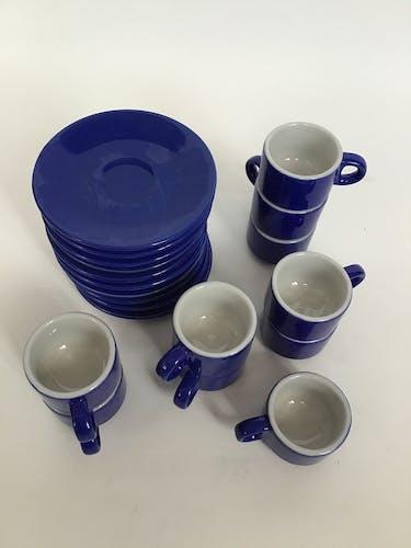Set de 10 tasses à café de bistrot